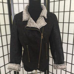 Jackets & Blazers - NWOT Faux suede/fur super soft & luxurious jacket